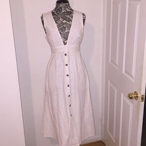Urban outfitters white sun dress with cut out back